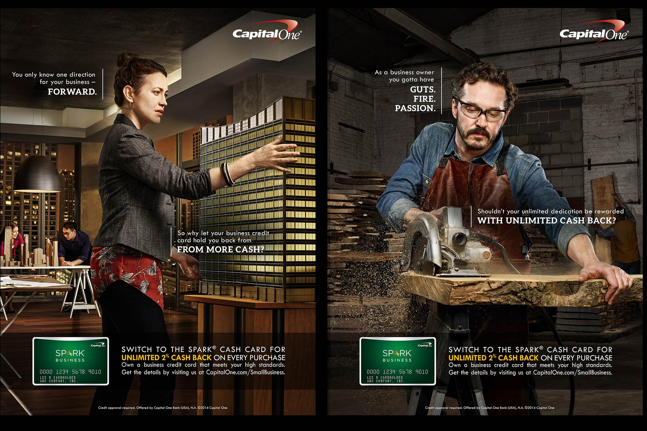 Capital One \'Spark\' Small Business Campaign – Ross Feighery Photography